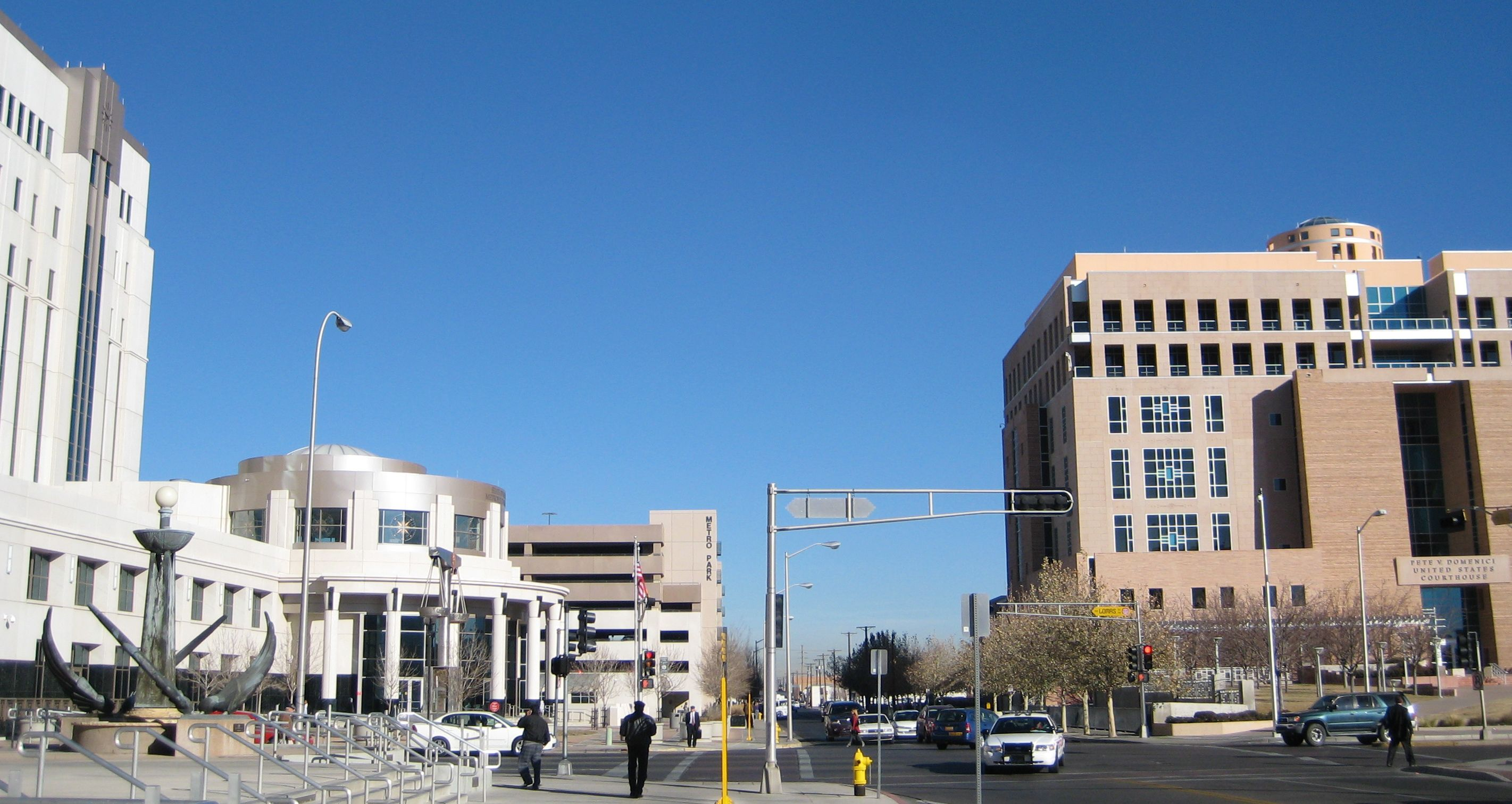 Bernalillo County Metropolitan Court (left); U.S. District Court for the District of New Mexico (right)